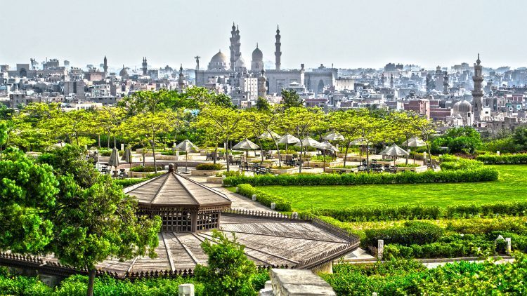 Visiting Al Azhar Park in Cairo