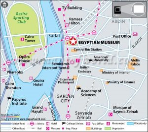 The Egyptian Museum map